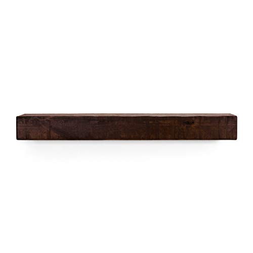 - Dogberry Collections Shelf Rustic Mantel, Mahogany 72