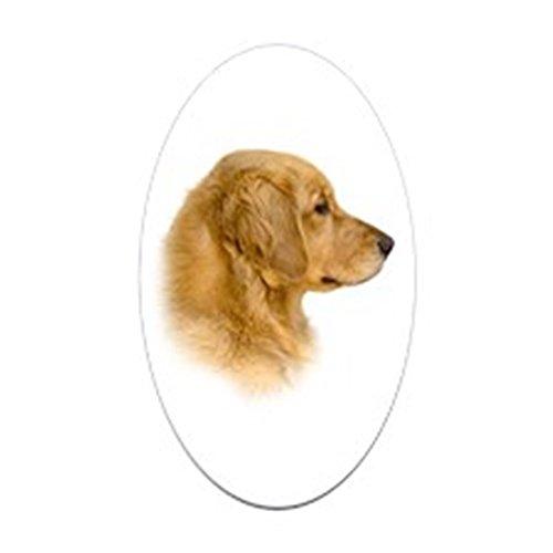 etriever Portrait Oval Sticker - Oval Bumper Sticker, Euro Oval Car Decal (Portrait Pets Mug)