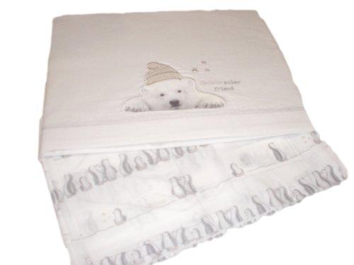 Chicco set tre pezzi lenzuolina culla carrozzina col bianco con