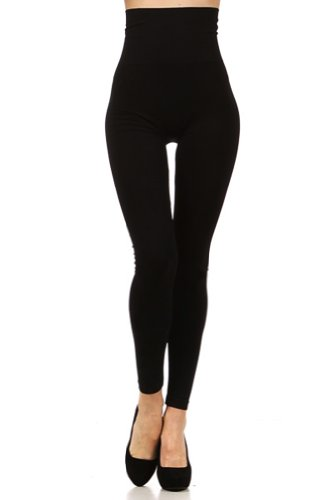 Modern Kiwi Everyday Slim High Waist Leggings Black One Size at ...