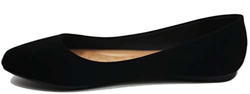 Walstar Ballerine Ballerine Chaussures Plates Solides Et Paillettes Noir