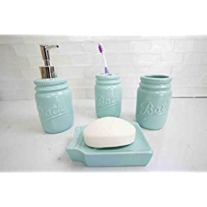 31-1dO%2ButeL._SS300_ 70+ Beach Bathroom Accessory Sets and Coastal Bathroom Accessories 2020