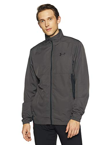 Under Armour Men's Sportstyle Woven Full Zip Jacket , Charcoal (019)/Black, Medium