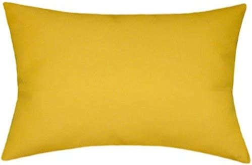Sunbrella Sunflower Indoor/Outdoor Solid Pillow 12×18 Rectangle