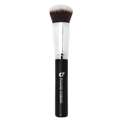 Mineral Powder Foundation Makeup Brush Round Top Kabuki - Premium Synthetic Bristles