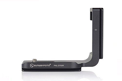 SunwayFoto PNL-D750R Custom L-Bracket for Nikon D750 DSLR ()