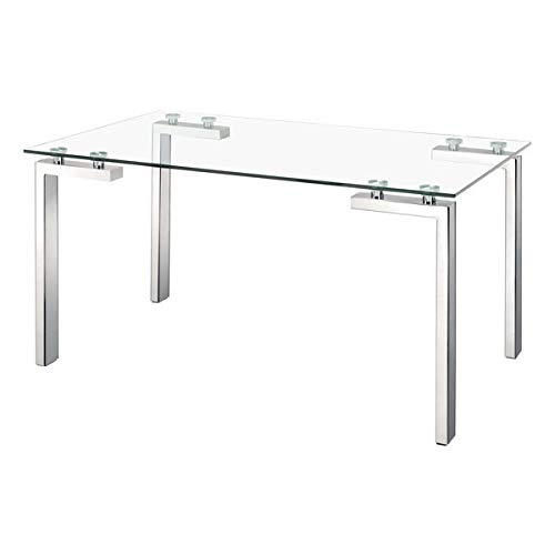 Zuo Roca Dining Table, Stainless Steel