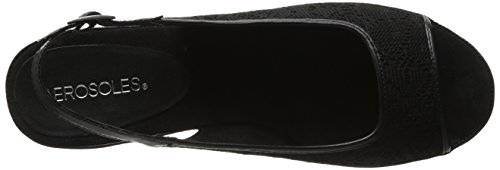 Aerosoles Donna Dozzina Di Rose Slingback Sandalo In Pizzo Nero