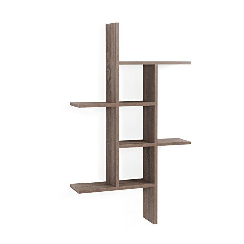 Danya B. XF160708OK Cantilever Shelf, Oak (Oak Wall Shelf)