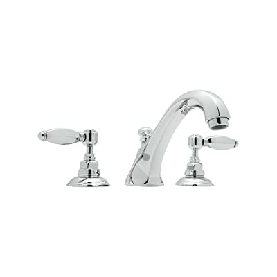 Rohl A1884LHAPC Country Bath Tub Filler Faucet with Hex Metal Lever Handles, Polished Chrome