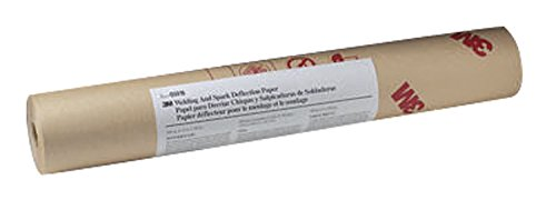 3M Abrasive 051131-05916 Welding/Spark Deflection Paper, 24 in x 150', Flame-Retardant Paper, Brown 3 Meter Welding Paper