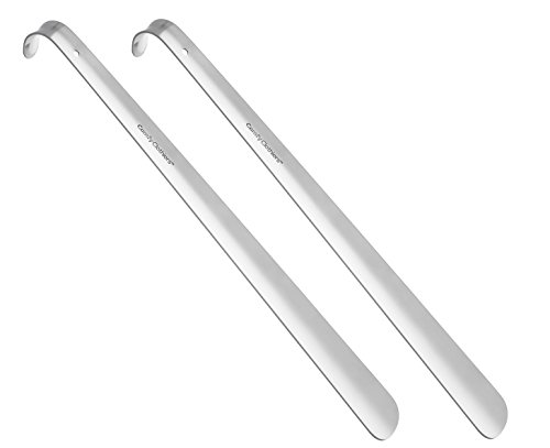 (Metal Shoe Horn - Long Heavy Duty Steel Shoehorn by Comfy Clothiers (18 inches - pack of 2))