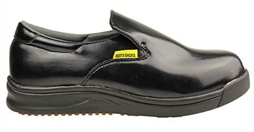 DDTX Men's Slip and Oil Resistant Slip-on Work Shoes Black (9.5) by DDTX (Image #4)
