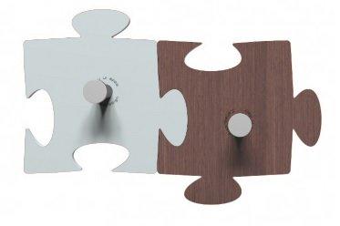 Perchero de Pared Design Puzzle 2 Elementos Azul - Wengué ...
