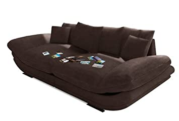 Trendmanufaktur Mega Sofa Braun Mit Atmungsaktiver Polyätherschaum