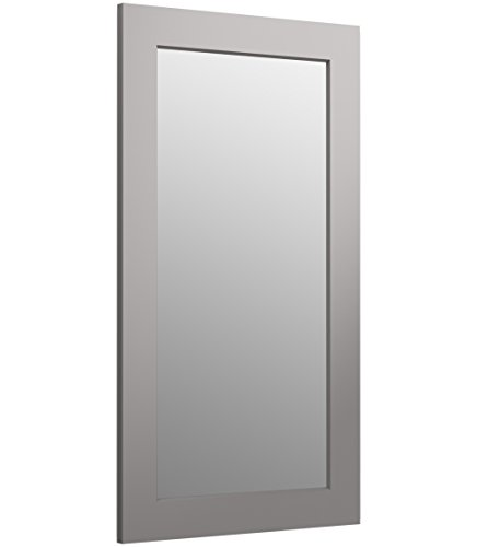 KOHLER K-99666-1WT Poplin Rectangular Framed Mirror, Mohair Grey, 35.5