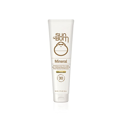 Sun Bum Mineral Sunscreen Tinted Face Lotion SPF 30 | Reef Friendly Broad Spectrum UVA/UVB Protection | Natural Zinc Sun Block|  Hypoallergenic, Paraben Free, Gluten Free, Vegan | 1.7 OZ Bottle