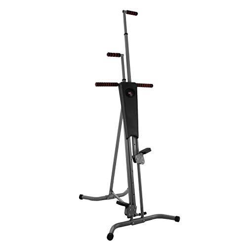 Popsport 440LBS Climber Machine Fitness Stepper Climber Exercise Equipment Vertical Climber for Home Gym Exercise Stepper Cardio Climbing System (P8006,Gray)
