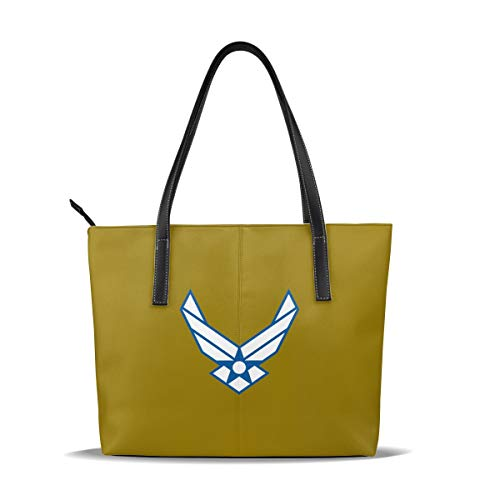 USAF Air Force Portable Leather Casual Handbag