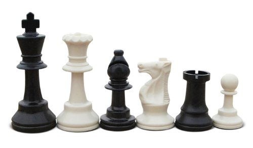 Quality School and Club Chess Set: Triple Weighted Pieces (Two Extra Queens) with Blue Mousepad Chess Board