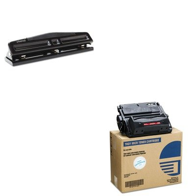 KITTRS0281119001UNV74323 - Value Kit - Troy 0281119001 39A Compatible MICR Toner (TRS0281119001) and Universal 12-Sheet Deluxe Two- and Three-Hole Adjustable Punch - Compatible 0281119001 Micr Toner