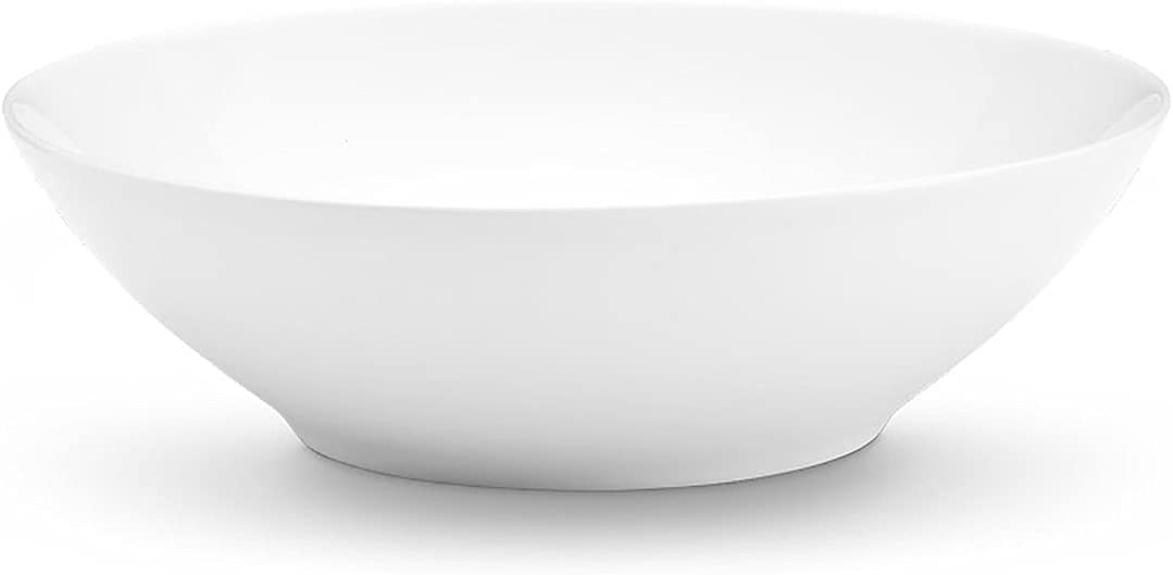 Pillivuyt Bowl Cecil Shallow Bowl 14.25-Inches Xtra-Large White 4.5Qt
