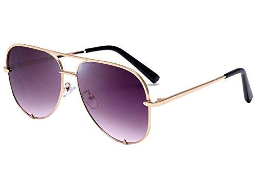 Aviator Sunglasses Fashion Shades (Eyerno Mirrored Aviator Sunglasses For Men Women Fashion Designer UV400 Sun Glasses(Gold/Grey))