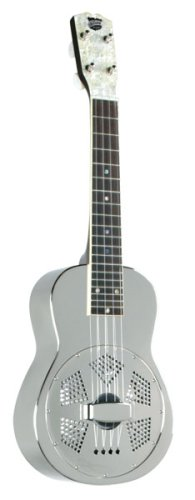 Recording King RU-998 Metal Body Resonator Ukulele, Nickel-Plated