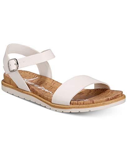 American Rag Womens Mattie Open Toe Casual Slingback Sandals, White Pu, Size 9.5 from American Rag