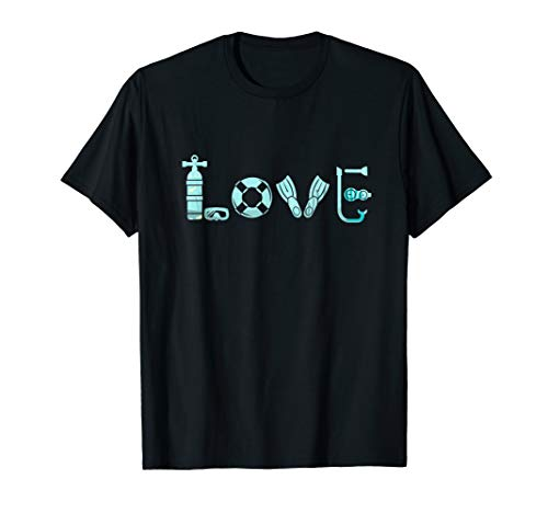 I love Scuba Diving Ocean Freediving Sea Apnea Dive Shirt