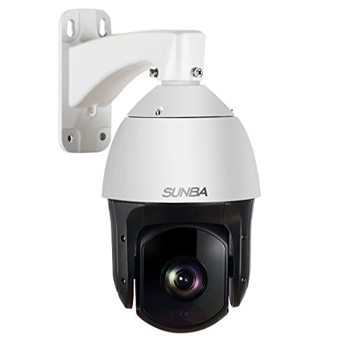 SUNBA 601-D20X IP PoE+ H.265/H.264 High Speed Ptz Outdoor Security Camera, 20X Optical Zoom HD 1080P Onvif with Audio and Night Vision Up to 800ft