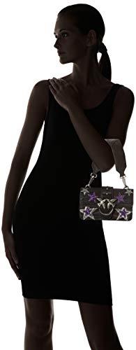 zebra Women's Vitello L St C Nero 2 x spallaccio Bag W Shoulder Mini Love Black Stars 7x11x20 H cm Limousine Pinko Yz8gqx
