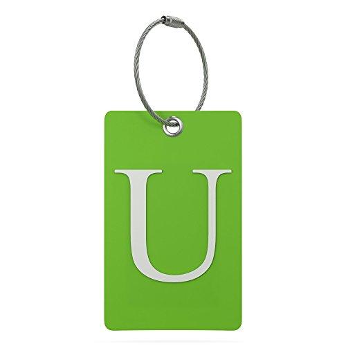 identificador de valija equipaje mochila letra U