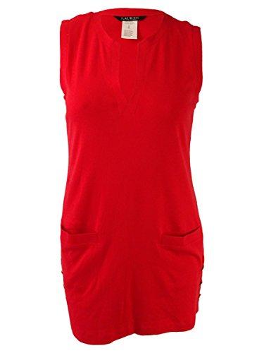 Lauren Ralph Lauren Women's Button Tunic Cover-Up Red/Orange Swimsuit -