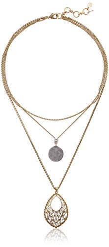 Lucky Brand Open Work Collar Necklace, Two Tone, One Size (Lucky Brand Jewelry Necklace)