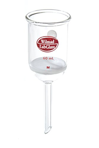 Wilmad-LabGlass LG-7080-138 Buchner Filter Funnel with Fritted Disc, 60mL, 40mmD Disc, Medium Porosity (Fritted Filter compare prices)