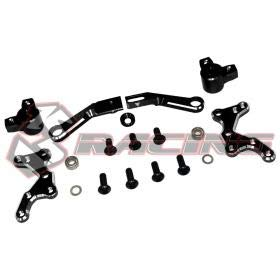 3Racing Aluminum Steering System Black For Sakura D4 AWD RWD #SAK-D4819/V2/BK ()