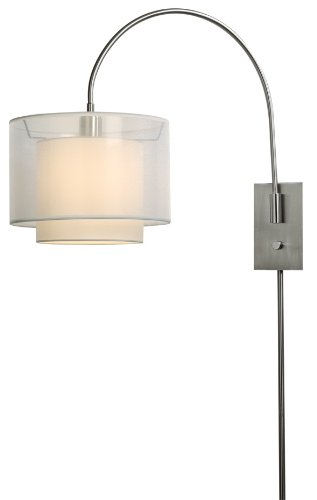 Trend Lighting BW7155 Brella Small Arc Wall Lamp, Brushed Nickel (Lights Brella)