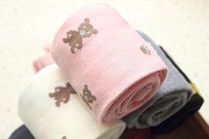 con stampa floreale XM-Amigo Confezione da 4 collant in cotone per bambine 3-9 anni