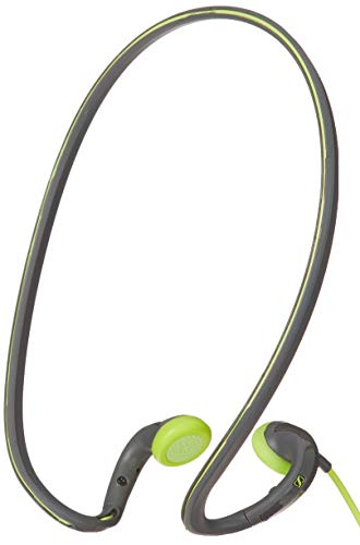 Sennheiser PMX 684i Fitness Workout Sports Running and Cycling Earbud/in ear Ultralight Compatible with Apple/iPhone/iPad Neckband Headphone Grey/Green color Headset sweat and water resistant (Sennheiser Earbuds Adidas)