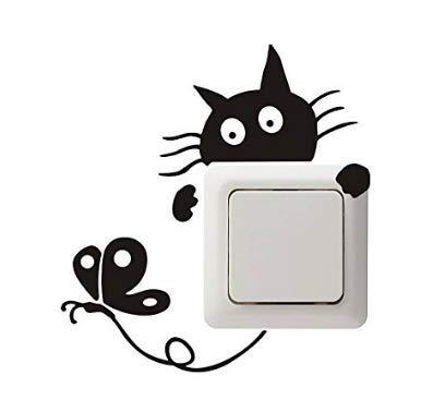 XBY.mi 1PCS Adesivo per autoadesivo da parete in PVC(gatto B)
