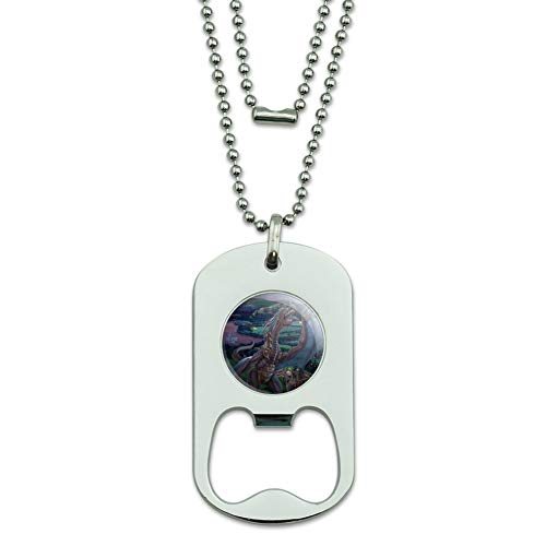 GRAPHICS & MORE Dragon Flight The Last Stand Fantasy Military Dog Tag Bottle Opener Pendant ()