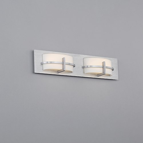 WAC Lighting WS-21622-AL Contemporary Compass 22'' Led Bath Vanity & Wall Light In Brushed Aluminum