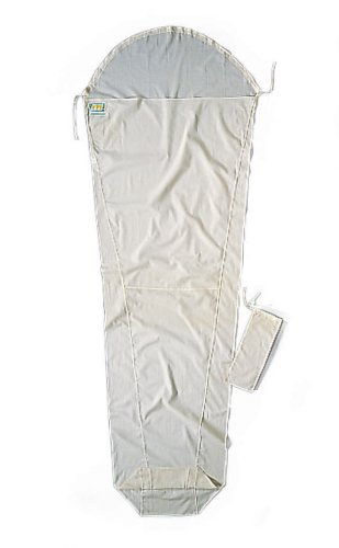 Cocoon Egyptian Cotton MummyLiner (Natural, 95-Inch x 35/22-Inch) by Cocoon