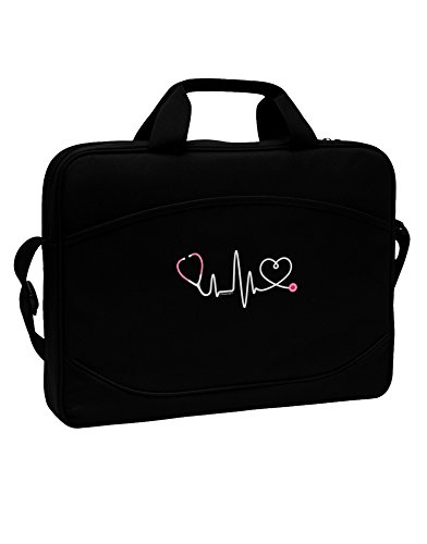 TooLoud Stethoscope Heartbeat 15'' Dark Laptop/Tablet Case Bag by TooLoud