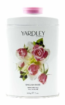 Design Scented Body Powder (Yardley London Scented Talc Powder, English Rose Scent, 7 Oz/ 200 g)