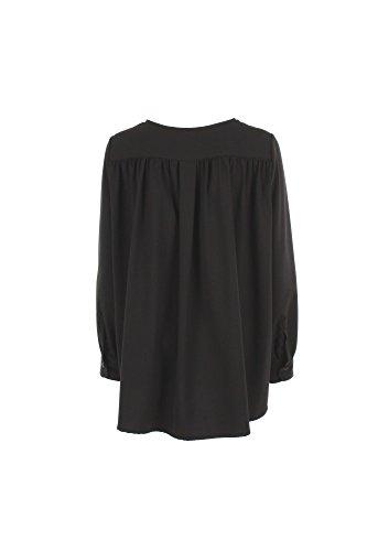 5RUE Camicia Donna S Nero 10416 Primavera Estate 2017