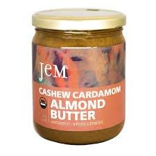 JEM - USDA Certified Organic Cashew Cardamom Almond Butter Spread, Vegan, NON-GMO, 16 oz