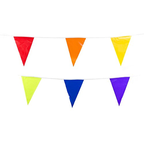 Adorox 100 Foot Multicolor Pennant Banner Birthday Party Dec