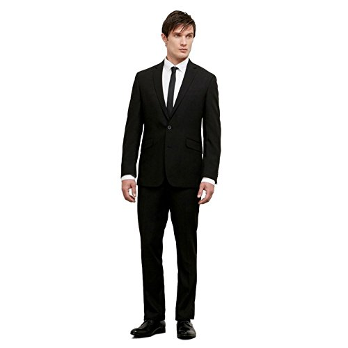 Reaction Kenneth Cole Slim-Fit Nested Suit With Unfinished Hem - Men's - Black by Kenneth Cole REACTION